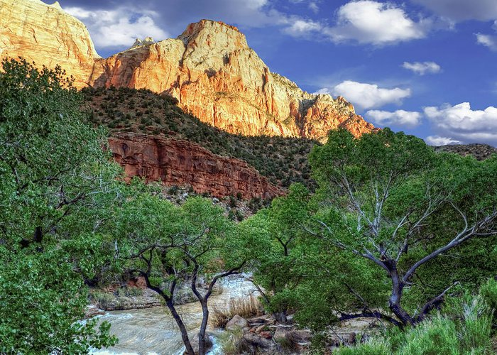 Zion National Park Greeting Card featuring the photograph Zion National Park by Douglas Pulsipher