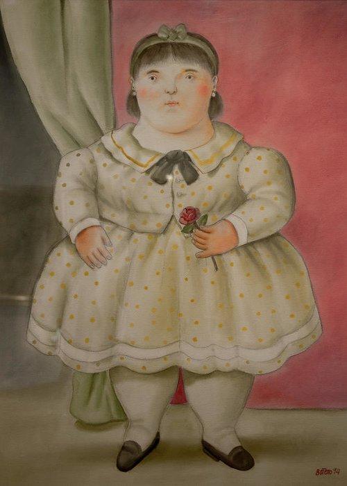 Bogota Greeting Card featuring the digital art Bogota Museo Botero by Carol Ailles
