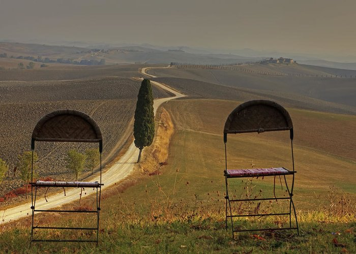 Val D'orcia Greeting Card featuring the photograph Tuscany by Joana Kruse
