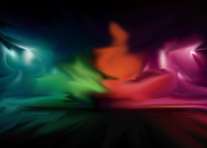 Abstract Greeting Card featuring the digital art Untitled by Nicholas Jauregui