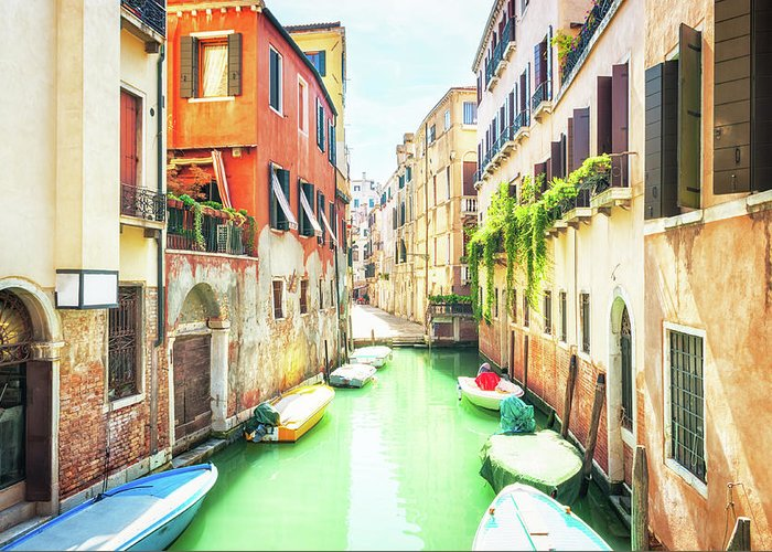 Italy Greeting Card featuring the photograph Venice Italy by Peter Horvath