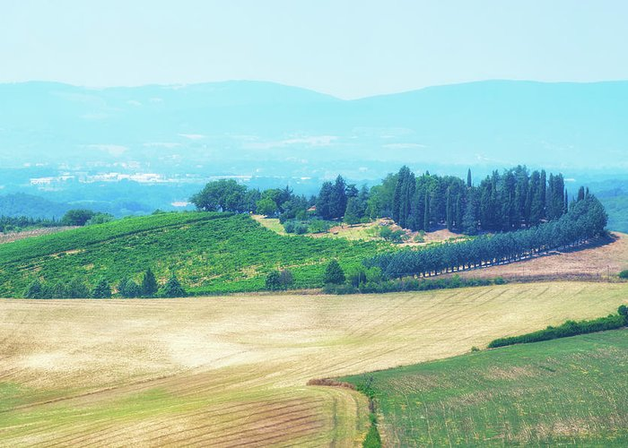 Landscape Greeting Card featuring the photograph Tuscany Italy by Peter Horvath