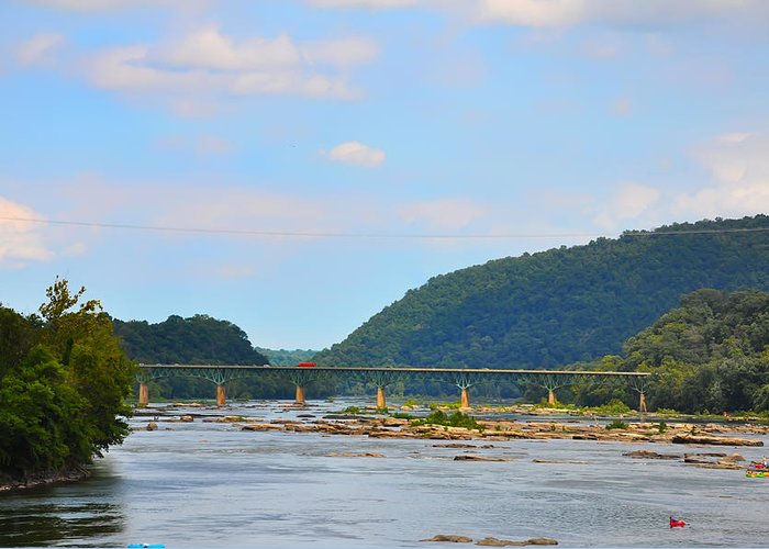 340 Greeting Card featuring the photograph 340 Bridge Harpers Ferry by Bill Cannon