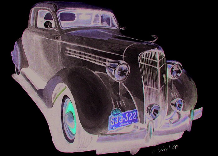 Desoto Greeting Card featuring the painting 35 Desoto by Ferrel Cordle