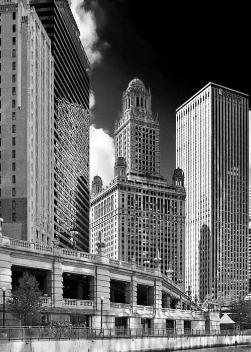 Chicago Greeting Card featuring the photograph 35 East Wacker Chicago - Jewelers Building by Christine Till