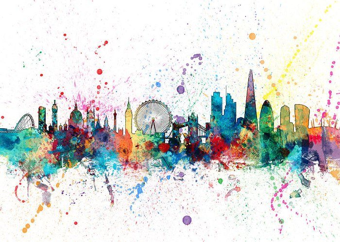 London Skyline Greeting Cards