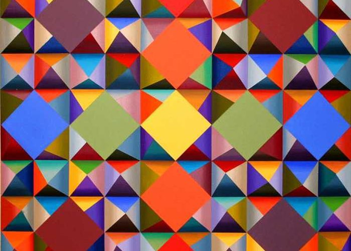 Abstract Greeting Card featuring the painting 361 by Marston A Jaquis