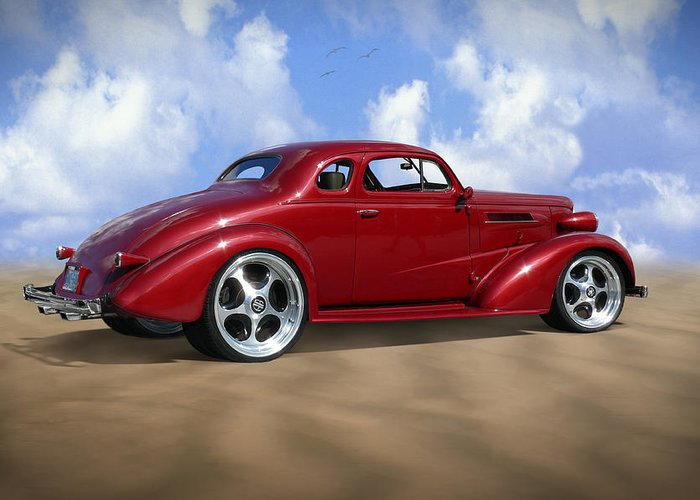 Transportation Greeting Card featuring the photograph 37 Chevy Coupe by Mike McGlothlen