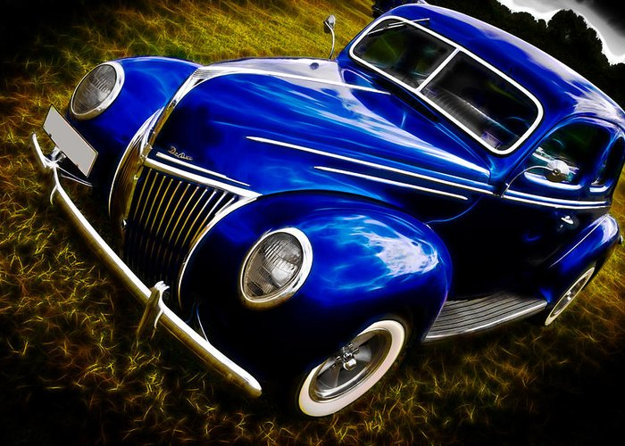 Ford Greeting Card featuring the photograph 39 Ford V8 Coupe by Phil 'motography' Clark