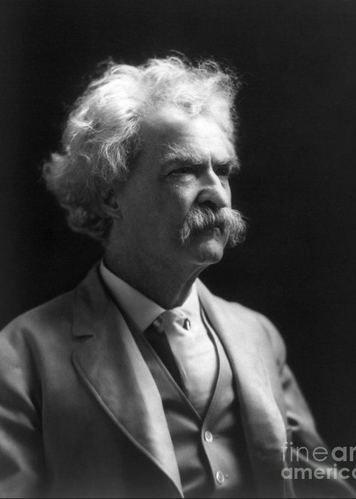 1907 Greeting Card featuring the photograph Samuel Langhorne Clemens by Granger