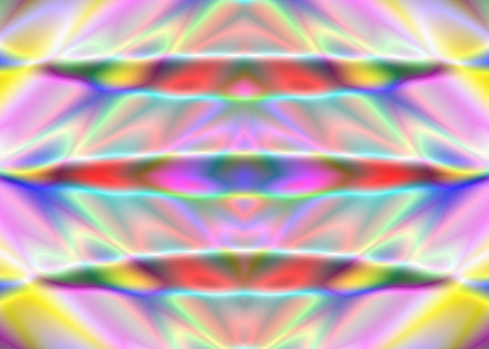 Glass Greeting Card featuring the digital art 3x1 Abstract 916 by Rolf Bertram