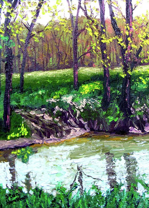 Plein Air Greeting Card featuring the painting 4 28 by Stan Hamilton