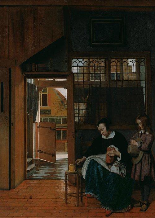 Pieter De Hooch Greeting Cards