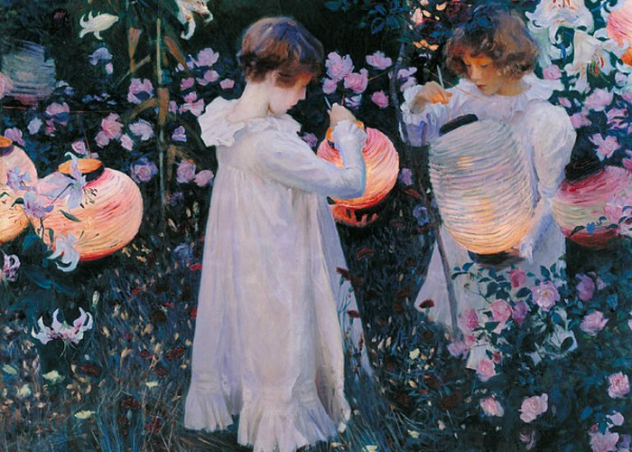 Sargent Greeting Card featuring the painting Carnation Lily Lily Rose 4 by John Singer Sargent