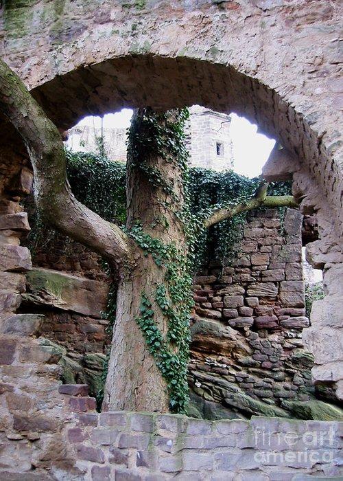 Castle Ruin Greeting Card featuring the photograph Castle Ruin Noerten-hardenberg by Valentina Vassilieva