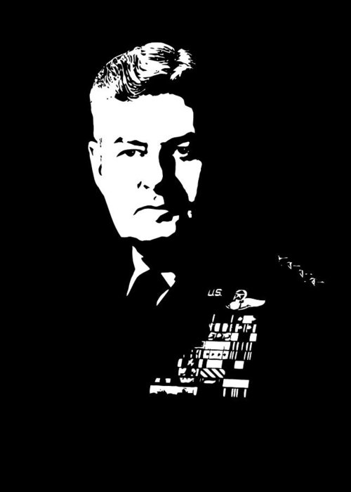 Curtis Lemay Greeting Card featuring the digital art General Curtis Lemay by War Is Hell Store
