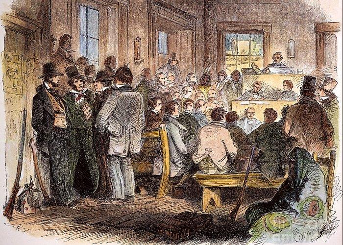 1855 Greeting Card featuring the photograph Kansas-nebraska Act, 1855 by Granger