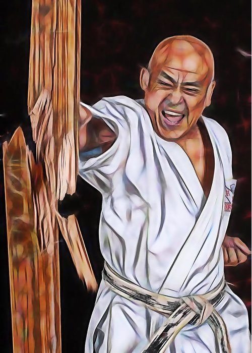 Karate masters collection greeting card for sale by martial arts karate greeting card featuring the mixed media karate masters collection by martial arts fine art m4hsunfo