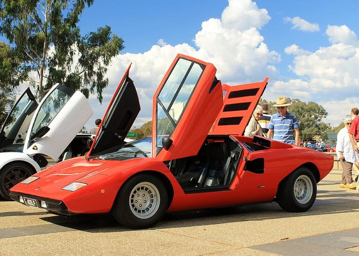 Lamborghini Countach Lp400 Greeting Card For Sale By Anthony Croke