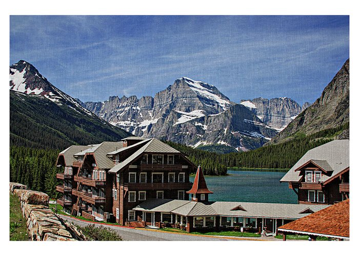 Many Greeting Card featuring the photograph Many Glacier Hotel by Margie Wildblood