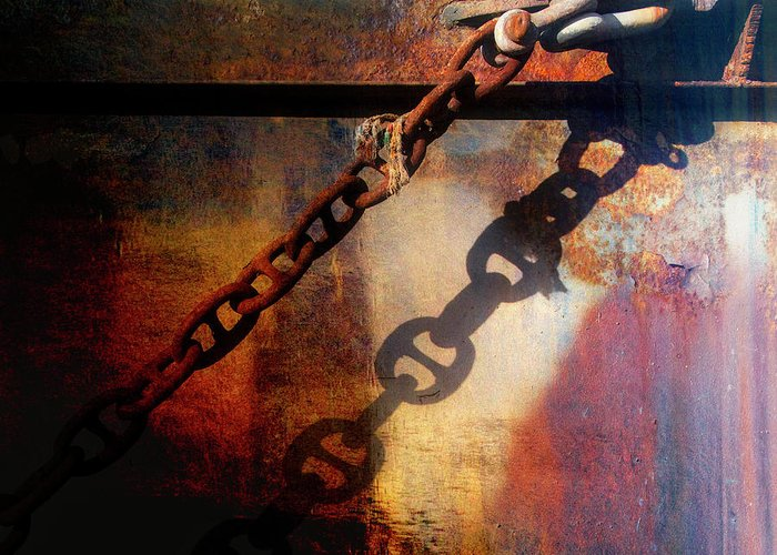 Rusty Chain Greeting Cards