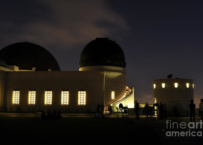 Clay Greeting Card featuring the photograph Night At Griffeth Observatory by Clayton Bruster