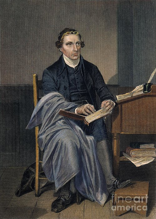 18th Century Greeting Card featuring the photograph Patrick Henry (1736-1799) by Granger