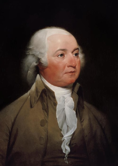 John Adams Greeting Card featuring the painting President John Adams by War Is Hell Store