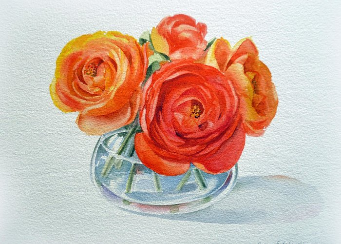 Painted Glass Greeting Cards