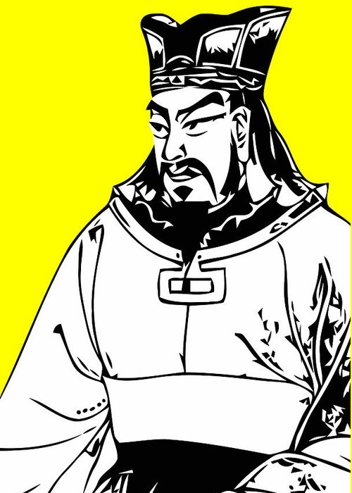 Sun Tzu Greeting Card featuring the digital art Sun Tzu by War Is Hell Store