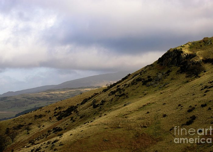 Great Britain Greeting Card featuring the photograph Welsh Mountains by Angel Ciesniarska