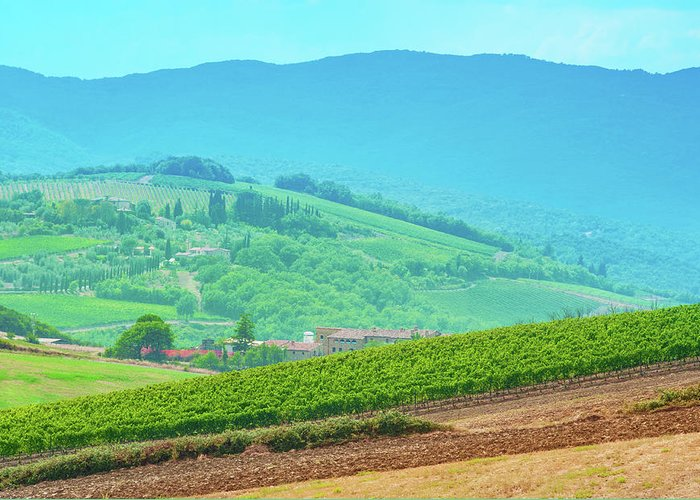 Hill Greeting Card featuring the photograph Tuscany Italy by Peter Horvath