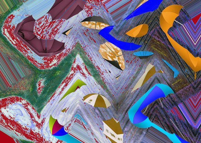 Abstract Greeting Card featuring the digital art 44 U 172 by John Saunders