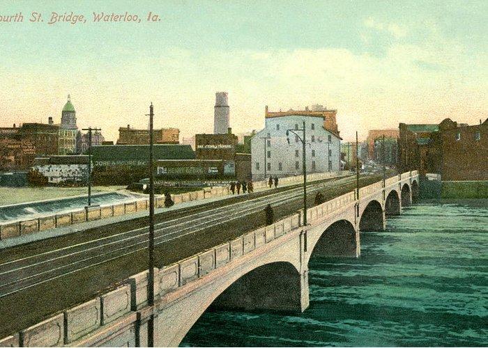 Historic Bridges Mixed Media Greeting Cards
