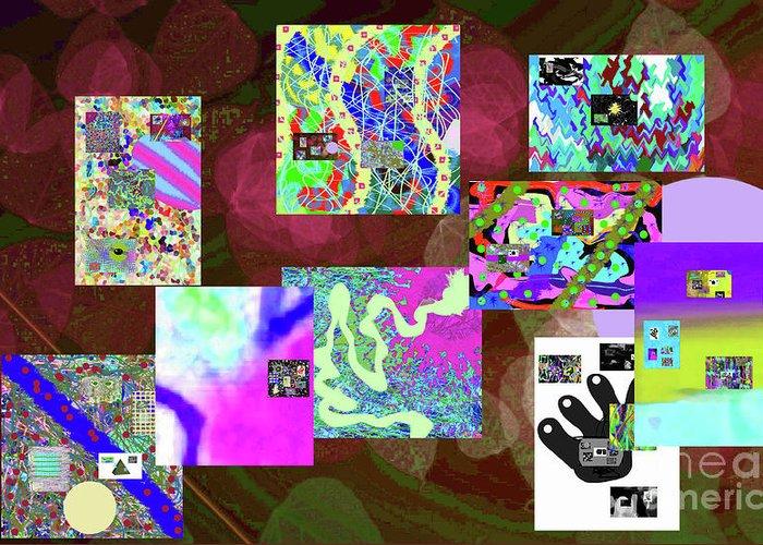 Walter Paul Bebirian Greeting Card featuring the digital art 5-25-2015cabcdefgh by Walter Paul Bebirian