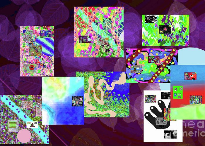 Walter Paul Bebirian Greeting Card featuring the digital art 5-25-2015cabcdefghijklmno by Walter Paul Bebirian
