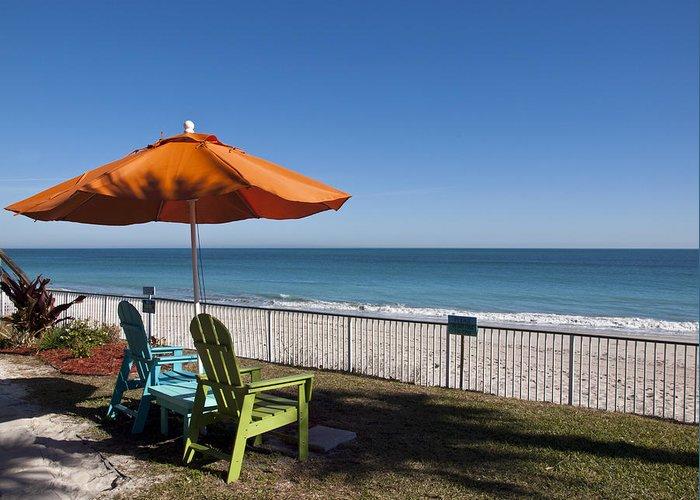 Florida Greeting Card featuring the photograph Beachland Boulevard At Vero Beach In Florida by Allan Hughes