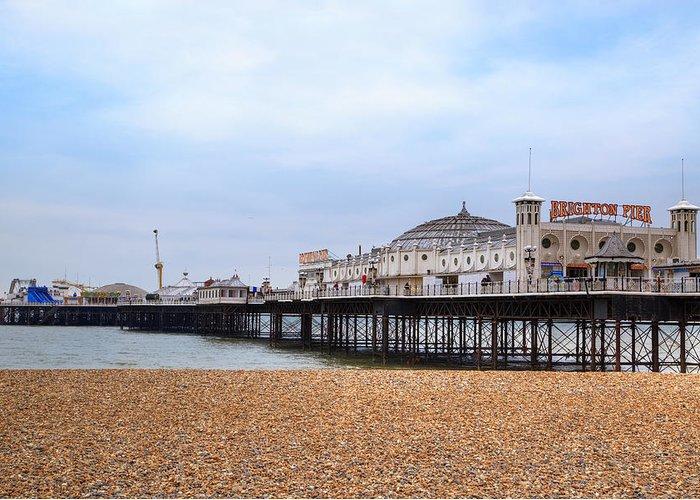 Brighton Pier Greeting Card featuring the photograph Brighton Pier by Joana Kruse