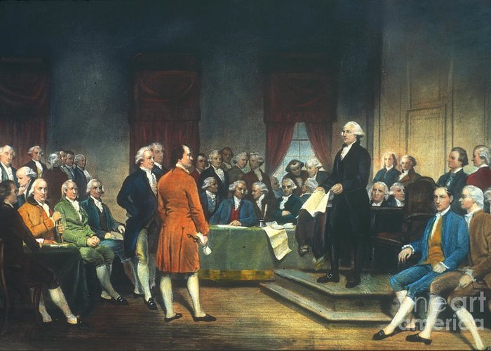 1787 Greeting Card featuring the photograph Constitutional Convention by Granger