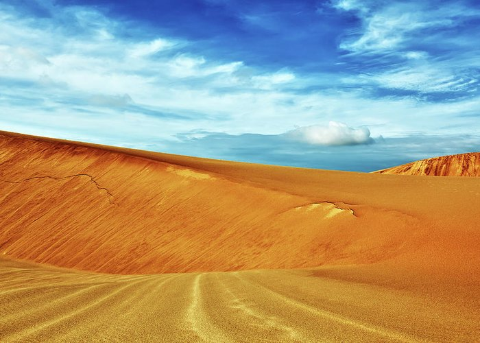 Sandhills Greeting Card featuring the photograph Desert by MotHaiBaPhoto Prints