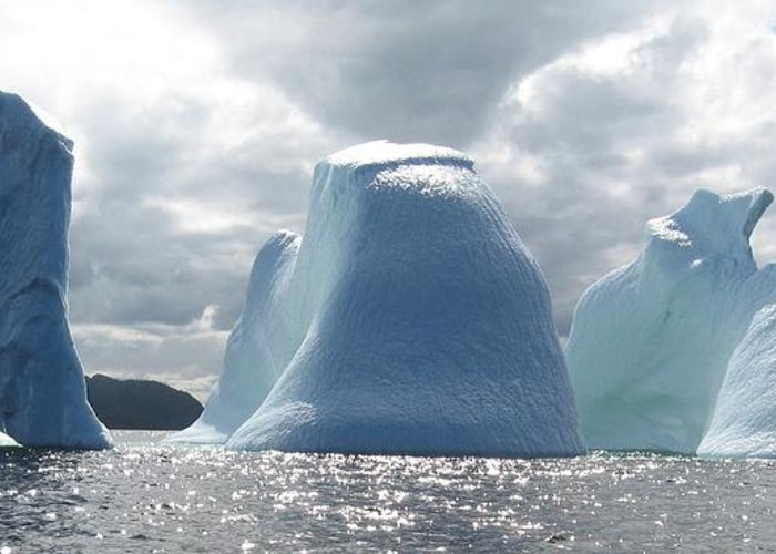 Iceberg Photograph Ice Water Ocean Altantic Newfoundland Summer Greeting Card featuring the photograph Iceberg by Seon-Jeong Kim