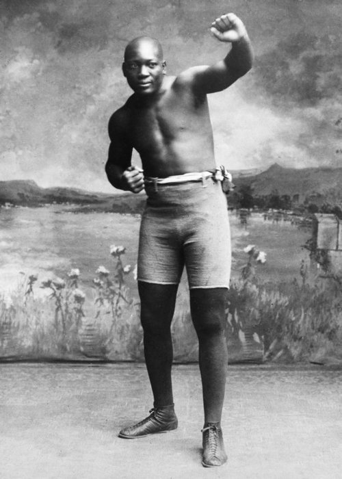 1910 Greeting Card featuring the photograph Jack Johnson (1878-1946) by Granger