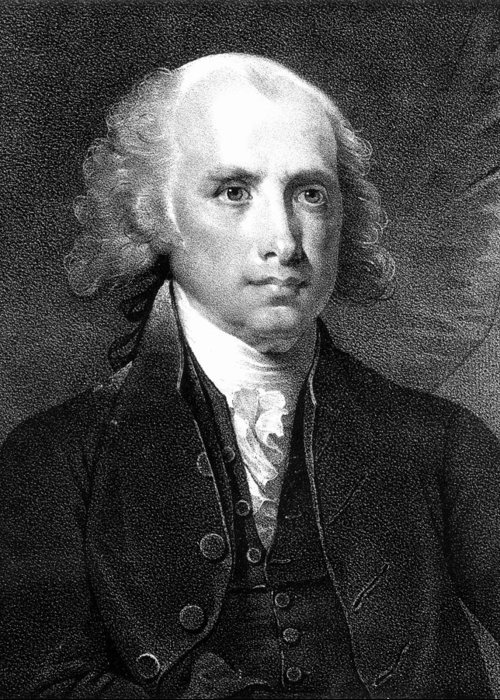 18th Century Greeting Card featuring the photograph James Madison (1751-1836) by Granger