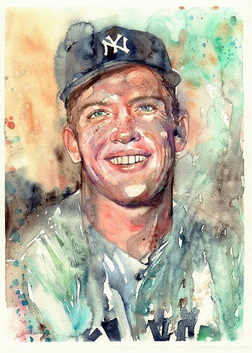 Mickey Mantle Greeting Cards