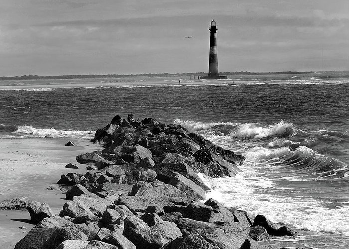 Lighthouses Greeting Card featuring the photograph Morris Island Lighthouse by Skip Willits