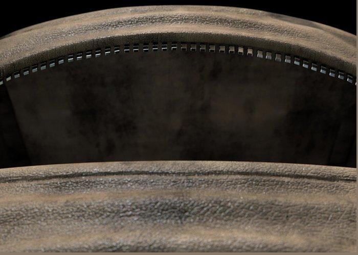 Duffel Bag Greeting Card featuring the digital art Open Empty Brown Duffel Bag by Allan Swart