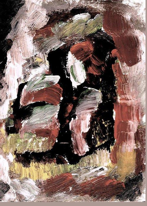 Otak Tidak Betul Makan Ubat Greeting Card featuring the painting Otak Tidak Betul Makan Ubat by Yu Fred