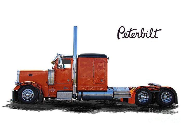 Peterbilt Greeting Card featuring the photograph Peterbilt Semi Truck by Nick Gray