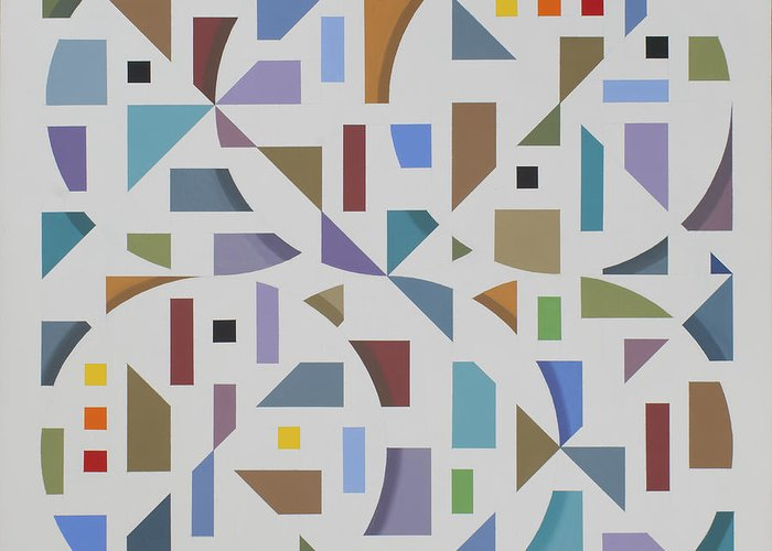 Abstract Geometric Painting Greeting Card featuring the painting Untitled 10 by Marston A Jaquis
