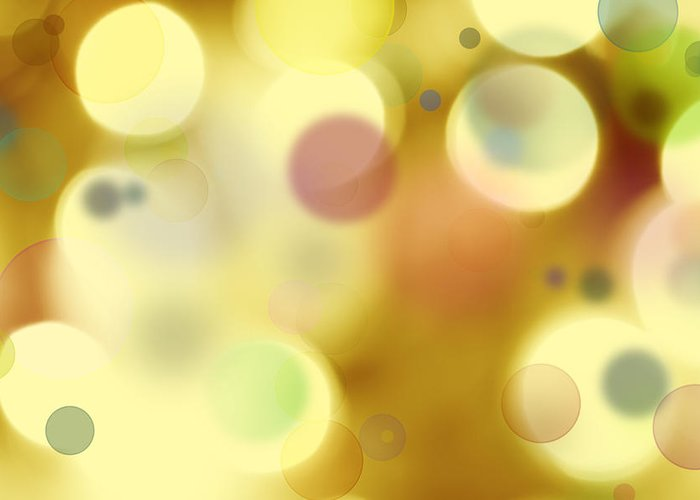 Bright Lights Greeting Card featuring the digital art Abstract Background by Les Cunliffe